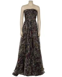 Eastland - Blue Strapless Print Gown - Lyst