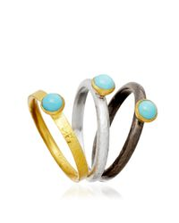 Gurhan | Blue Turquoise Stacking Ring | Lyst