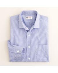 J.Crew Blue Thomas Mason® Fabric Spread-collar Dress Shirt in Mini-gingham for men
