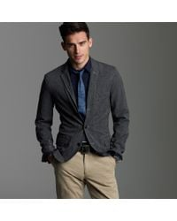 J.Crew | Black Selvedge Cotton Twill Sportcoat in Ludlow Fit for Men | Lyst