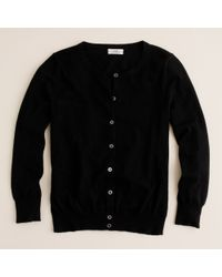 J.Crew | Black Featherweight Cashmere Cardigan | Lyst