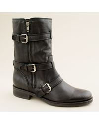 J.Crew | Black Miller Short Motorcycle Boots | Lyst