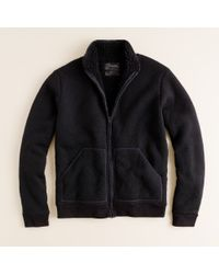 J.Crew | Black Sherpa-lined Fleece Jacket for Men | Lyst