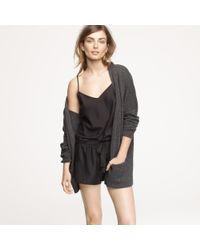 J.Crew | Black Silk Sleep Shorts | Lyst