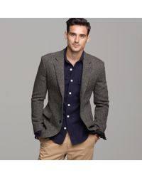 J.Crew | Brown Harris Tweed Sportcoat in Ludlow Fit for Men | Lyst