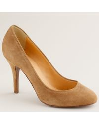 J.Crew | Brown Mona Suede Pumps | Lyst