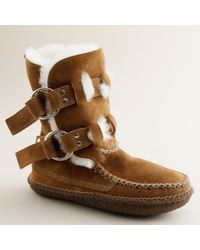 J.Crew | Brown Quoddy® Double-ring Boots in Suede | Lyst