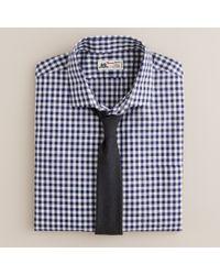 J.Crew Blue Thomas Mason® Fabric Spread-collar Dress Shirt in Navy Gingham for men