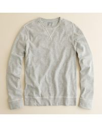 J.Crew | Gray Twisted Rib Long-sleeve Layering Tee for Men | Lyst