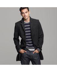 J.Crew | Gray Mayfair Wool Herringbone Topcoat for Men | Lyst