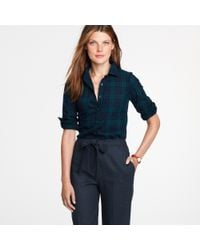 J.Crew | Blue Perfect Shirt in Blackwatch Plaid | Lyst