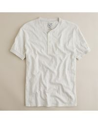 J.Crew | White Jaspé Short-sleeve Henley for Men | Lyst