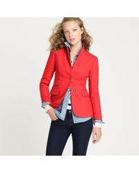 J.Crew | Red Hacking Jacket In Double-serge Wool | Lyst