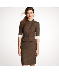 J.Crew | Brown Telegraph Jacket in Wool Flannel | Lyst