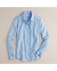 J.Crew | Blue Perfect Shirt In Solid | Lyst