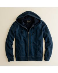 J.Crew | Blue Utility Fleece Sherpa-lined Hoodie for Men | Lyst