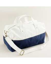 J.Crew | Blue Canvas Overnight Bag | Lyst