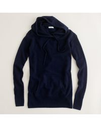 J.Crew | Blue Cashmere Popover Hoodie | Lyst