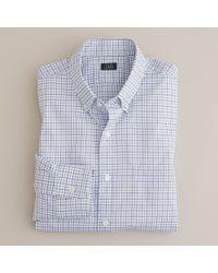 J.Crew | Blue Button-down Regular-fit Dress Shirt in James Tattersall for Men | Lyst