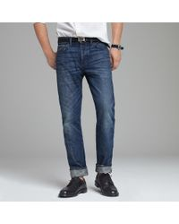 J.Crew | Blue Vintage Slim-fit Selvedge Jean in Medium Worn Wash for Men | Lyst