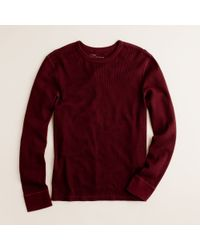 J.Crew | Purple Spindletop Waffle Long-sleeve Tee for Men | Lyst