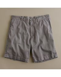 "J.Crew | Gray 9"" Stanton Short In Garment-dyed Cotton for Men | Lyst"