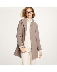J.Crew | Gray Double-cloth Envelope Coat | Lyst