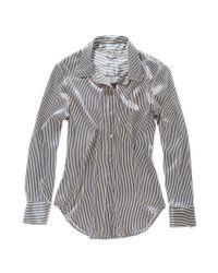 Madewell | Metallic Alexa Chung For Risky Business Striped Shirt | Lyst