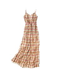 Madewell - Brown Painted Silk Maxidress - Lyst