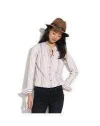 Madewell - Blue Striped Boiler Shirt - Lyst