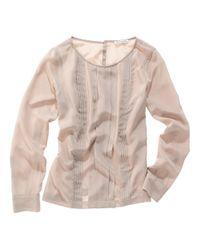 Madewell | Gray Silk Leaflet Blouse | Lyst