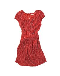 Madewell | Red Darling Dots Dress | Lyst