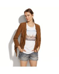 Madewell - Brown Suede Saddlerider Jacket - Lyst