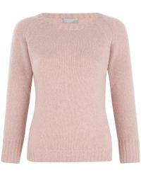 Margaret Howell | Pink Old Rose Island Cashmere Jumper | Lyst