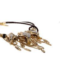 Roberto Cavalli | Brown Rapacious Bird Necklace | Lyst