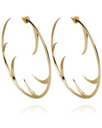 Shaun Leane - Yellow Large Cat Claw Earrings - Lyst