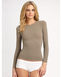 Spanx | Natural Long Sleeve Shaping Top | Lyst