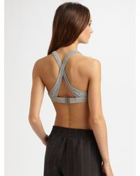 T By Alexander Wang | Gray Marled Jersey V-neck Bra | Lyst