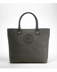 Tory Burch | Black Flannel Small Jaden Tote | Lyst