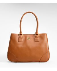 Tory Burch | Brown Robinson East/west Small Tote | Lyst