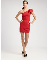 Valentino | Red Wool Mini Dress | Lyst