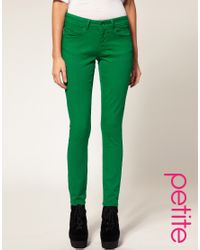 ASOS Collection | Asos Petite Green Skinny Jeans | Lyst