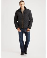 Cole Haan Quilted Nylon Jacket In Black For Men Lyst
