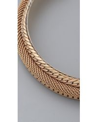 Fallon - Metallic Bourdin Collar - Lyst