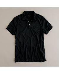 J.Crew | Black Broken-in Pocket Polo for Men | Lyst