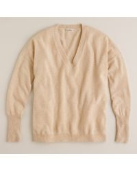 J.Crew | Natural Collection Cashmere Boyfriend V-Neck Sweater | Lyst