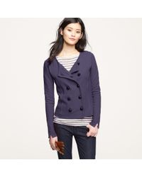 J.Crew | Blue Double-breasted Sweater-jacket | Lyst