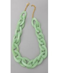 Kenneth Jay Lane - Green Jade Link Necklace - Lyst