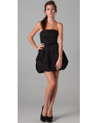Rachel Zoe - Black Strapless Bubble Skirt Dress - Lyst