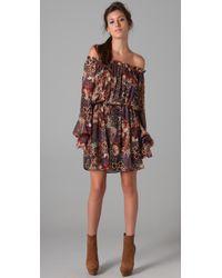 Rachel Zoe | Brown Frankie Floral Dress | Lyst